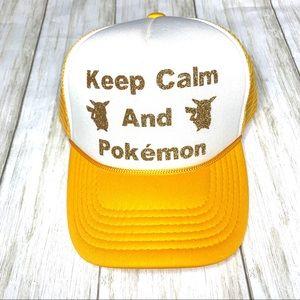 Accessories - Unisex Pokémon SnapBack trucker hat. OS